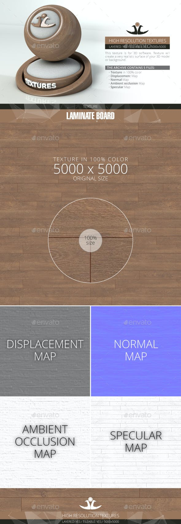 Laminate Board 20 - 3DOcean Item for Sale