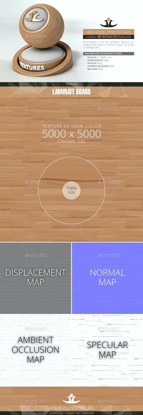 Laminate Board 21 - 3DOcean Item for Sale
