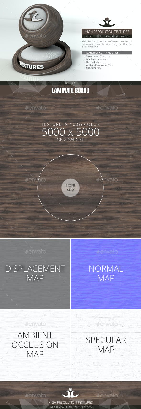 Laminate Board 23 - 3DOcean Item for Sale