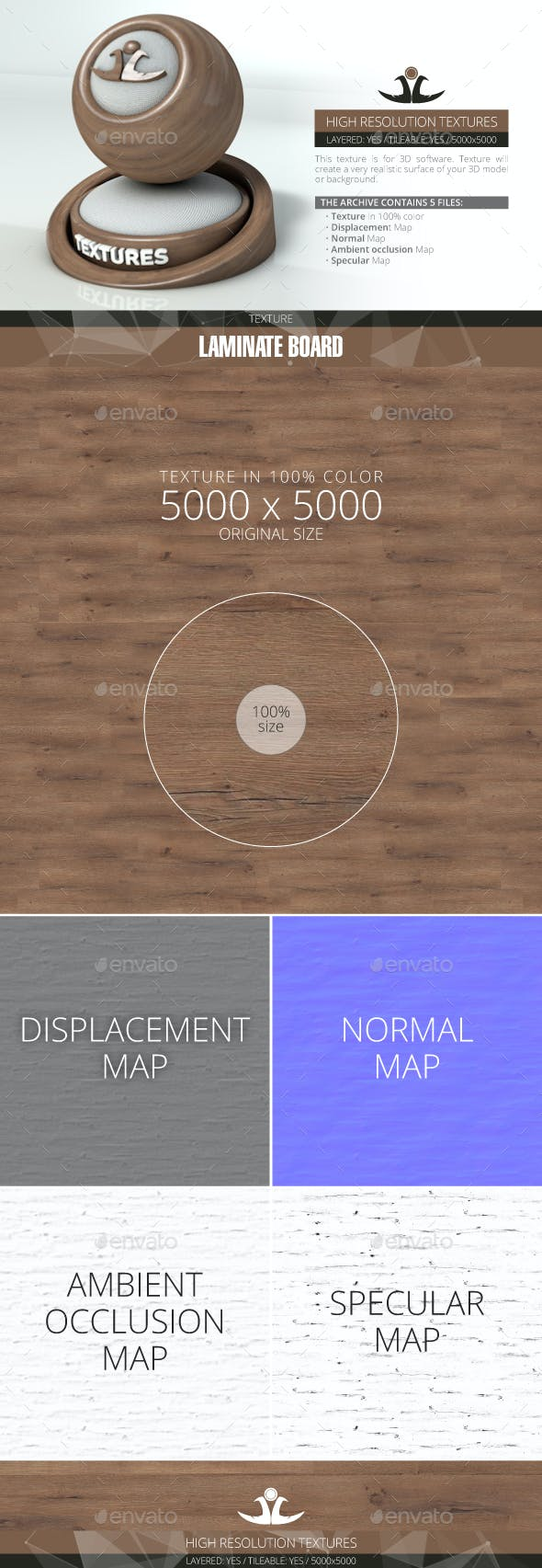 Laminate Board 29 - 3DOcean Item for Sale