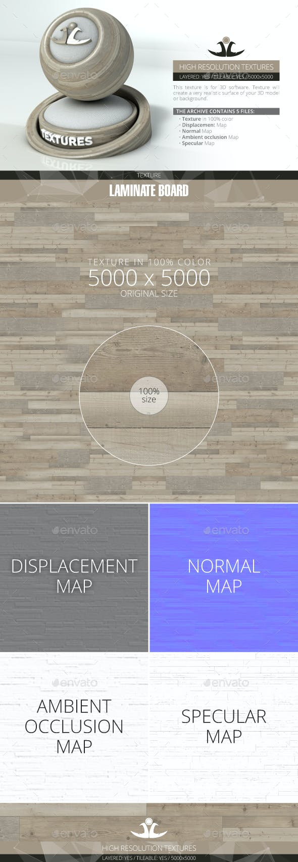Laminate Board 36 - 3DOcean Item for Sale