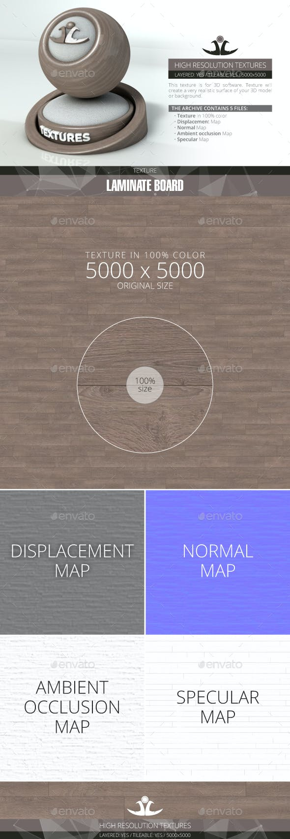 Laminate Board 38 - 3DOcean Item for Sale