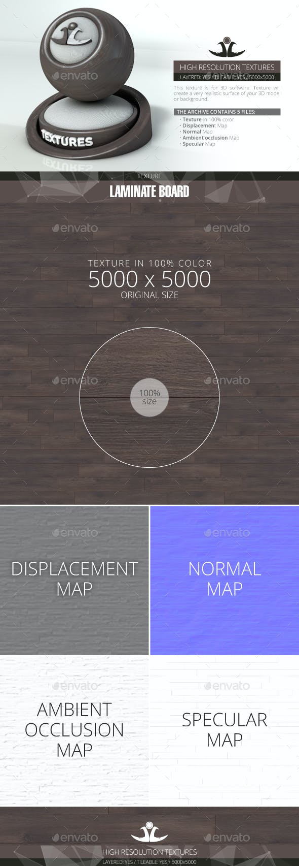 Laminate Board 42 - 3DOcean Item for Sale