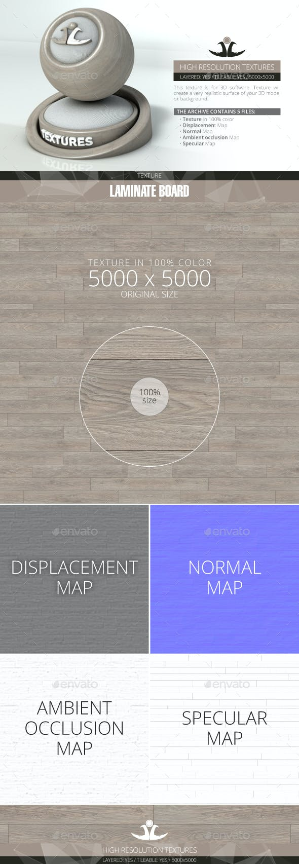 Laminate Board 53 - 3DOcean Item for Sale