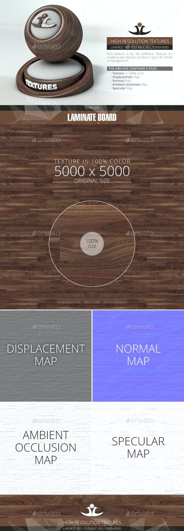 Laminate Board 59 - 3DOcean Item for Sale