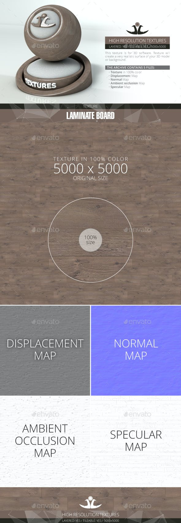 Laminate Board 60 - 3DOcean Item for Sale