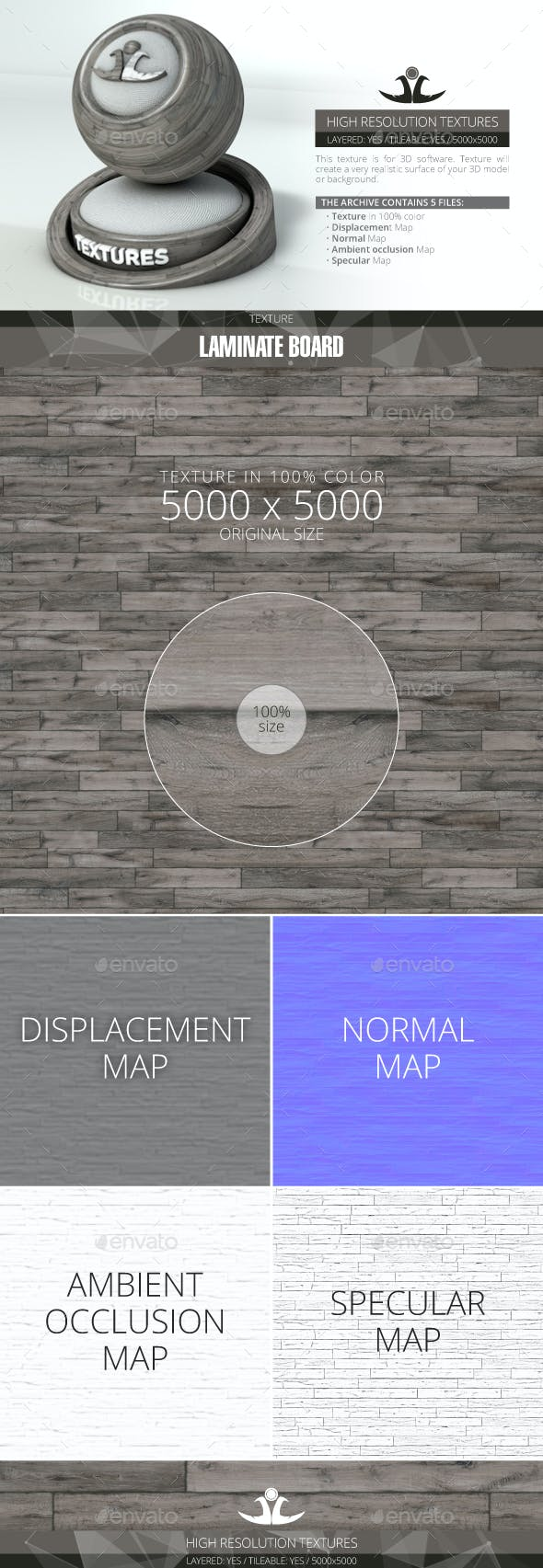 Laminate Board 74 - 3DOcean Item for Sale