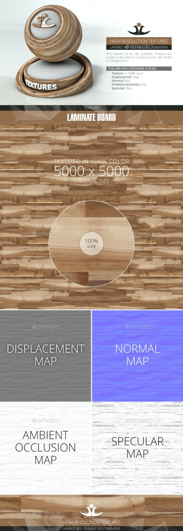 Laminate Board 76 - 3DOcean Item for Sale