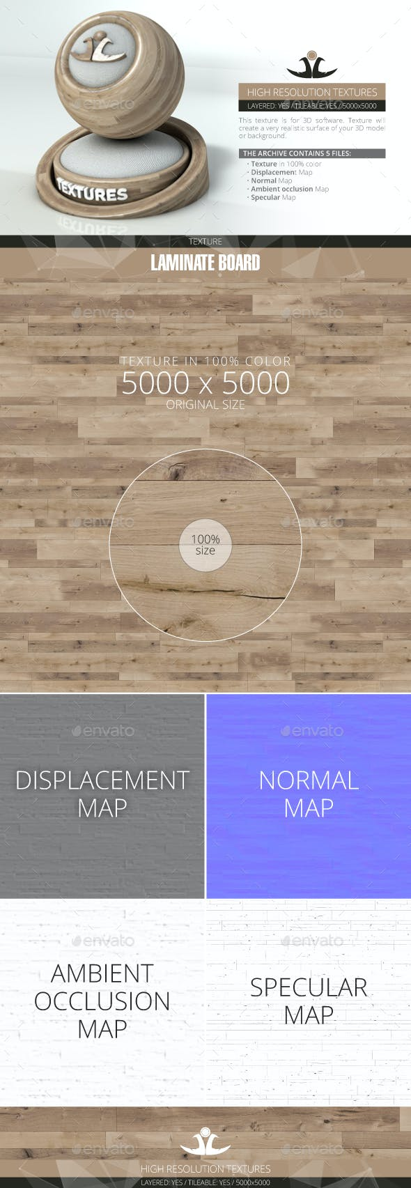 Laminate Board 85 - 3DOcean Item for Sale