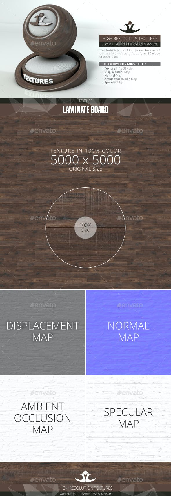 Laminate Board 86 - 3DOcean Item for Sale
