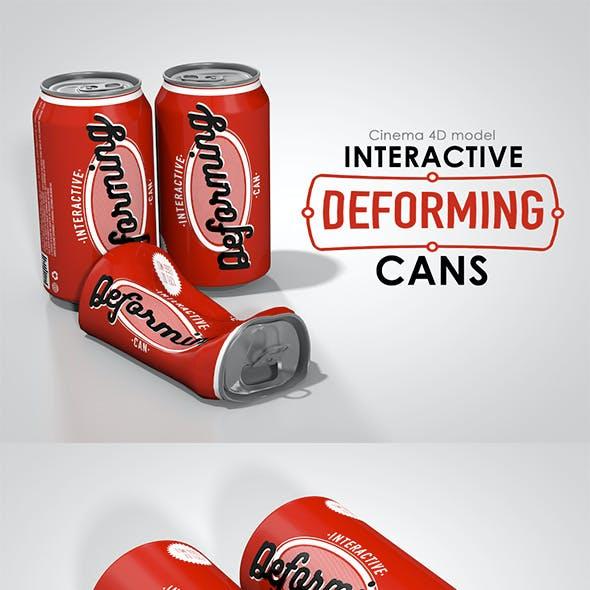Interactive deforming cans