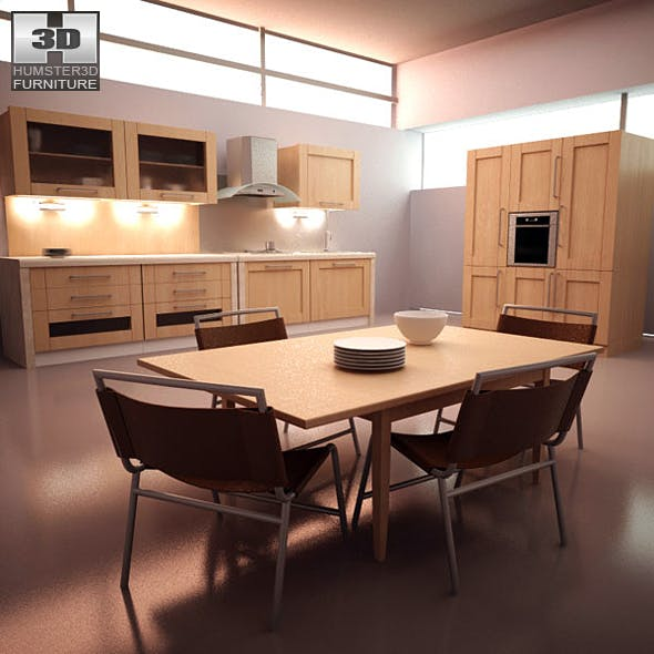 Kitchen 3D Home Furniture Models from 3DOcean