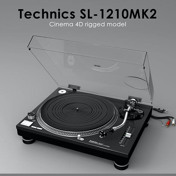 Technics SL-1210MK2 Rigged