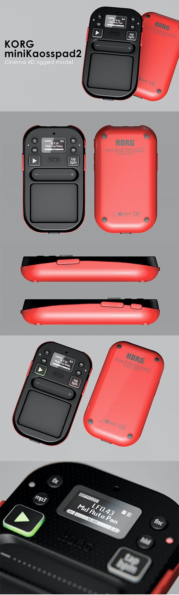 Korg miniKaosspad 2 Rigged - 3DOcean Item for Sale