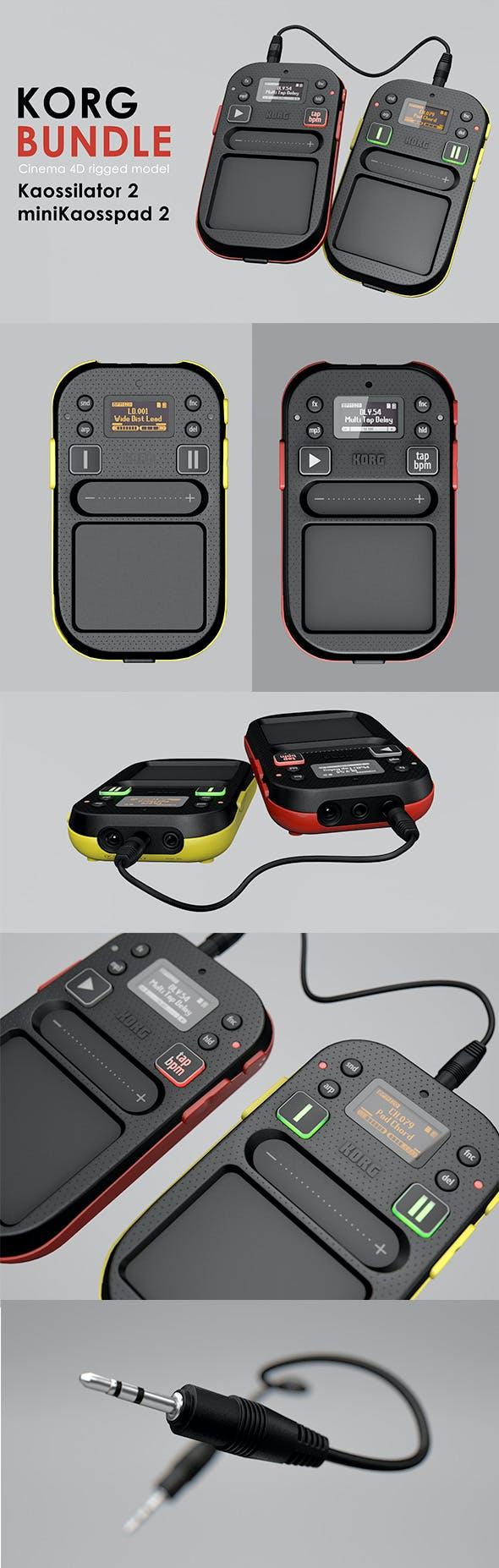 Korg Kaossilator 2 and miniKaosspad 2 Rigged - 3DOcean Item for Sale
