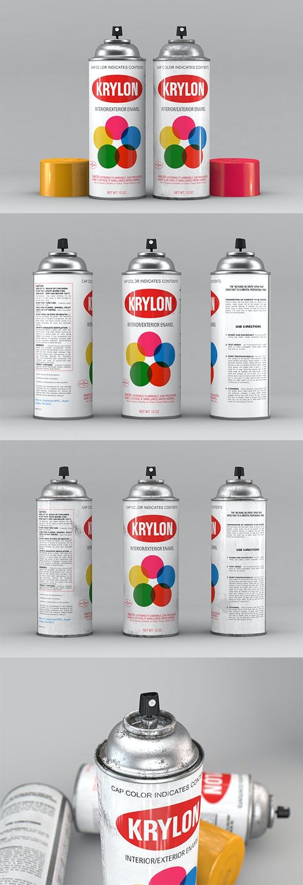 Krylon Spray Can - 3DOcean Item for Sale