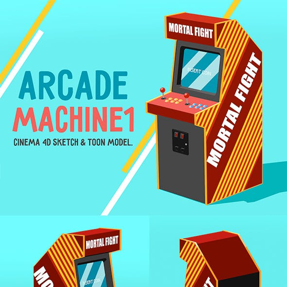 Arcade Machine (Sketch & Toon)