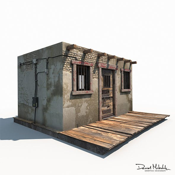 Western Jail Low Poly