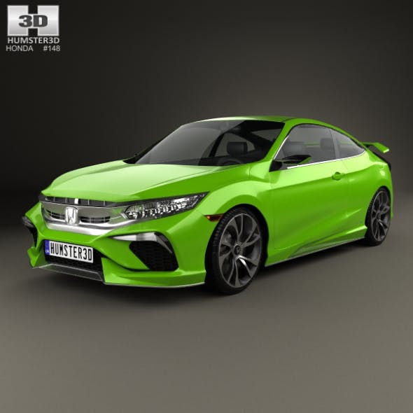 Honda Civic coupe Concept 2015 - 3DOcean Item for Sale