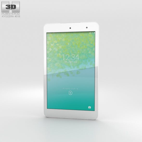 Kyocera Qua Tab 01 White - 3DOcean Item for Sale