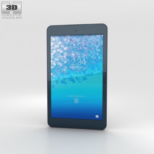 Kyocera Qua Tab 01 Gray - 3DOcean Item for Sale