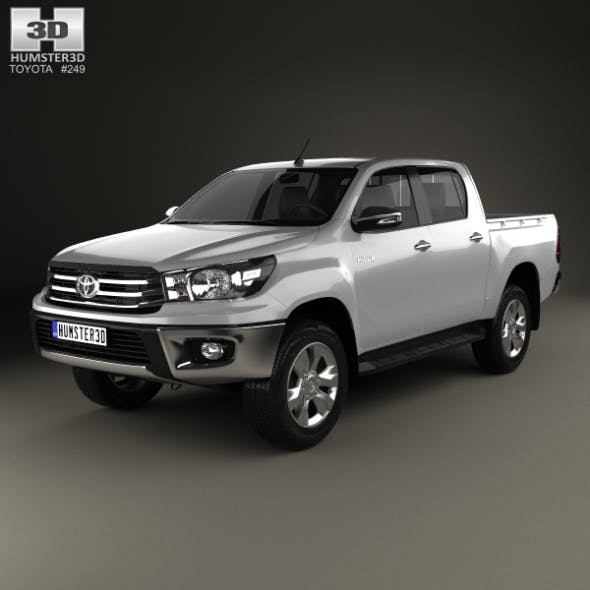 Toyota Hilux Double Cab Hi Rider 2015 - 3DOcean Item for Sale