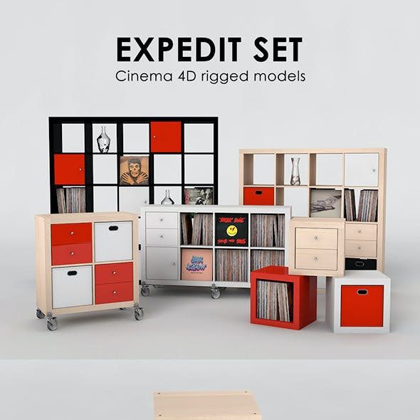 Ikea Expedit Set Rigged