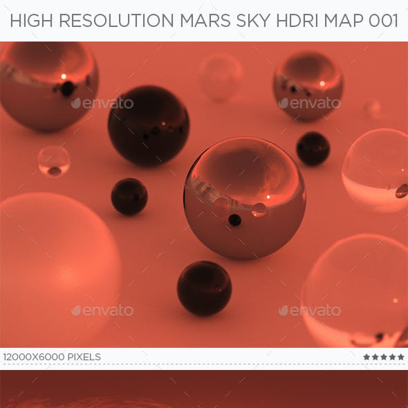 High Resolution Mars Sky HDRi Map 001