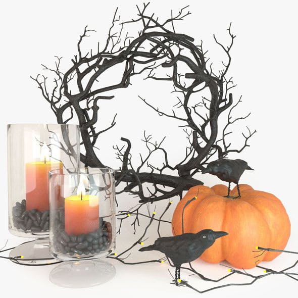 Halloween decor set - 3DOcean Item for Sale
