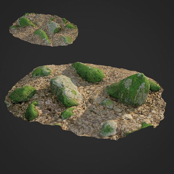 3d scanned nature stone 016 - 3DOcean Item for Sale