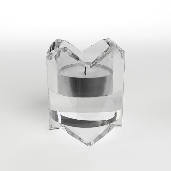 Glass Candle Holder - 3DOcean Item for Sale
