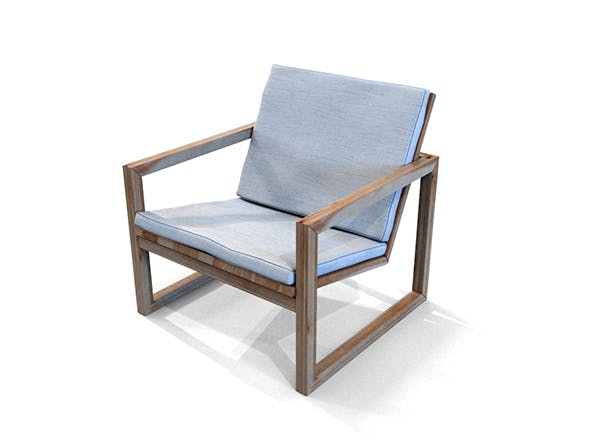Poltrona Lounge Wooden Chair - 3DOcean Item for Sale