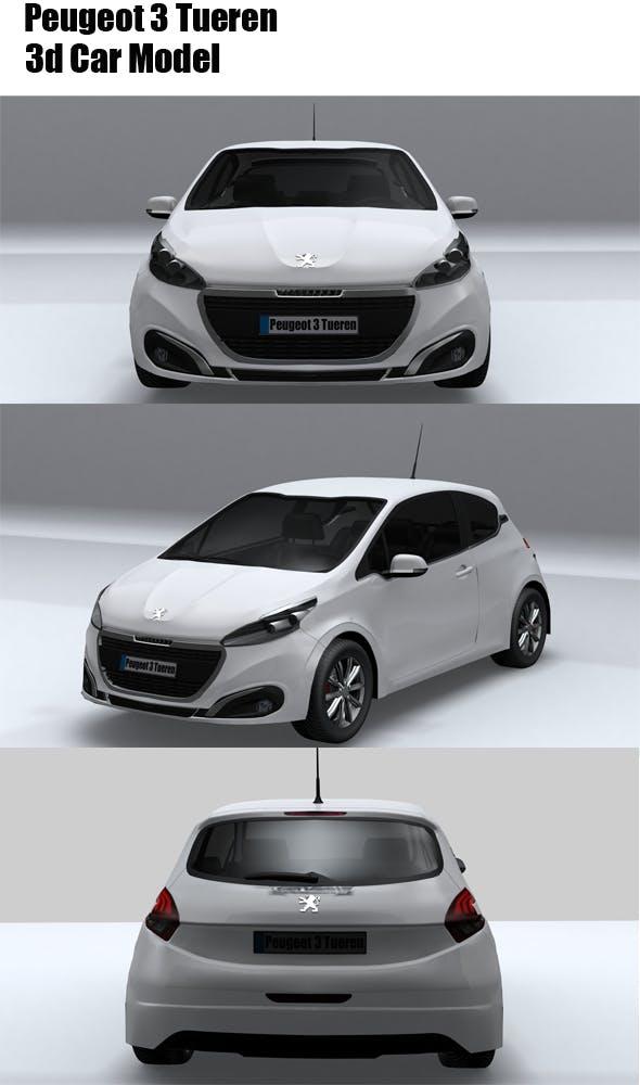Peugeot 3 Tueren - 3DOcean Item for Sale