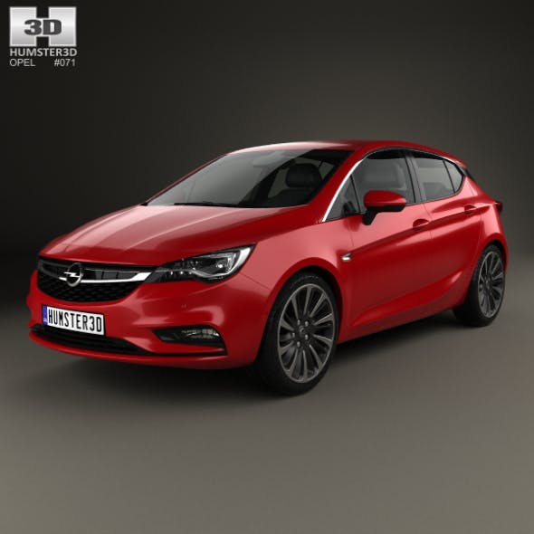 Opel Astra K 2016 - 3DOcean Item for Sale