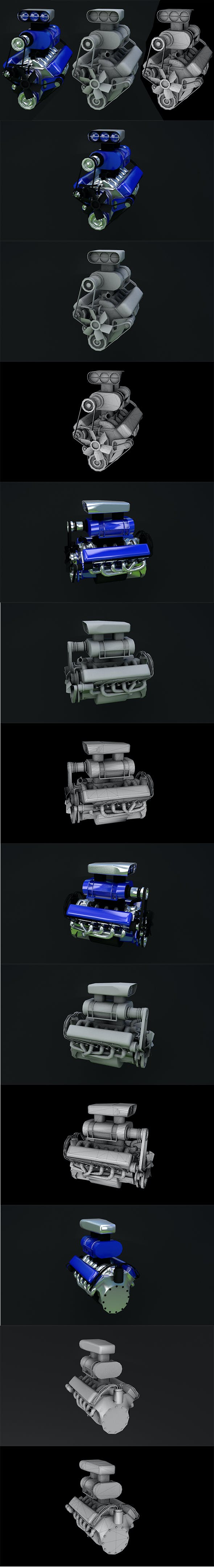 turbo engine Full details - 3DOcean Item for Sale