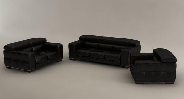 Natuzzi three set, living room furniture - 3DOcean Item for Sale