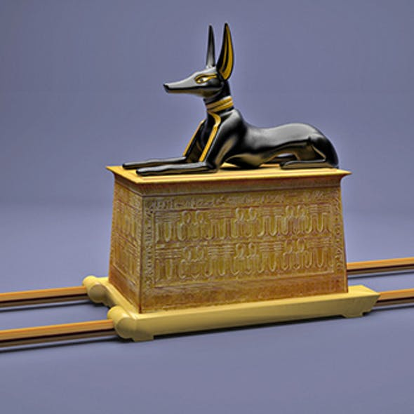 Egyptian Anubis Shrine Tutankhamun