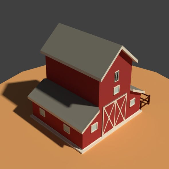Low Poly Cartoony Granary