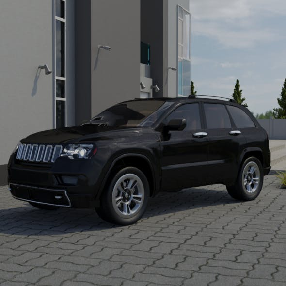 jeep grand cherokee 2017 - 3DOcean Item for Sale