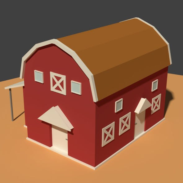 Low Poly Cartoony Granary 2