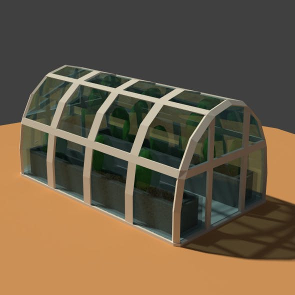 Low Poly Greenhouse