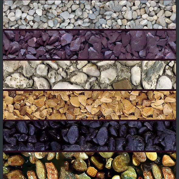 Seamless Gravel Texture Pack (x10)