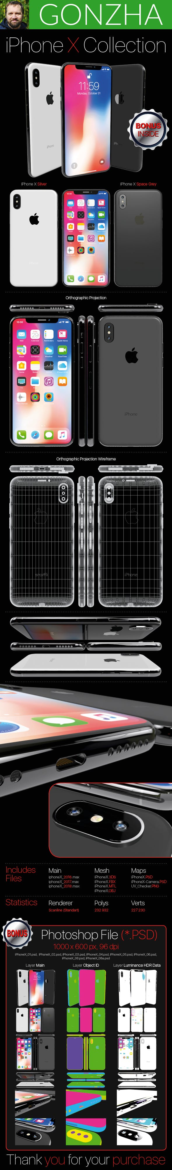 iPhone X Collection - 3DOcean Item for Sale