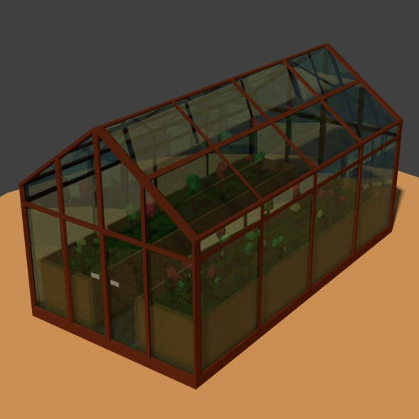 Low Poly Greenhouse 2 - 3DOcean Item for Sale