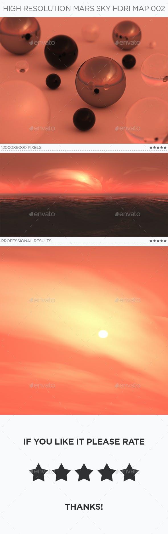 High Resolution Mars Sky HDRi Map 002 - 3DOcean Item for Sale