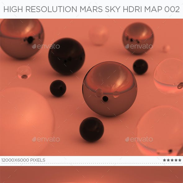 High Resolution Mars Sky HDRi Map 002