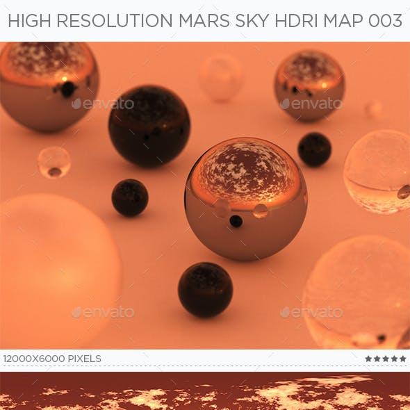 High Resolution Mars Sky HDRi Map 003