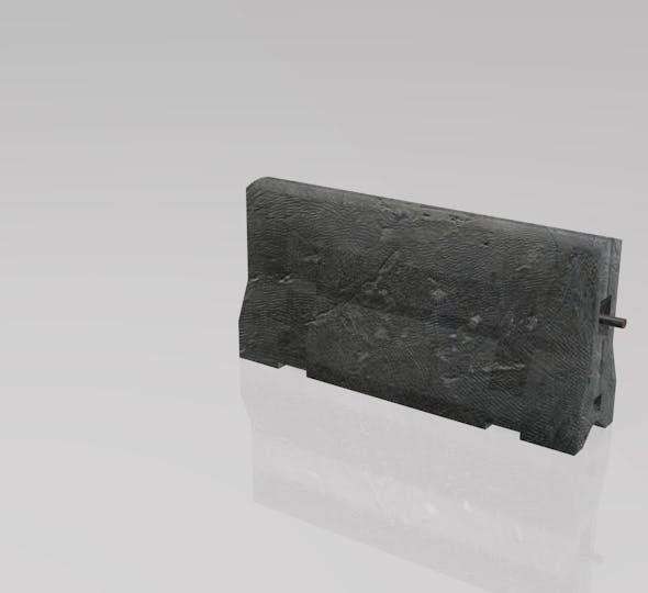 Concrete Road Divider - 3DOcean Item for Sale