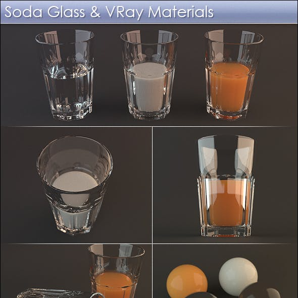 High Detail Soda Glass with VRay Materials