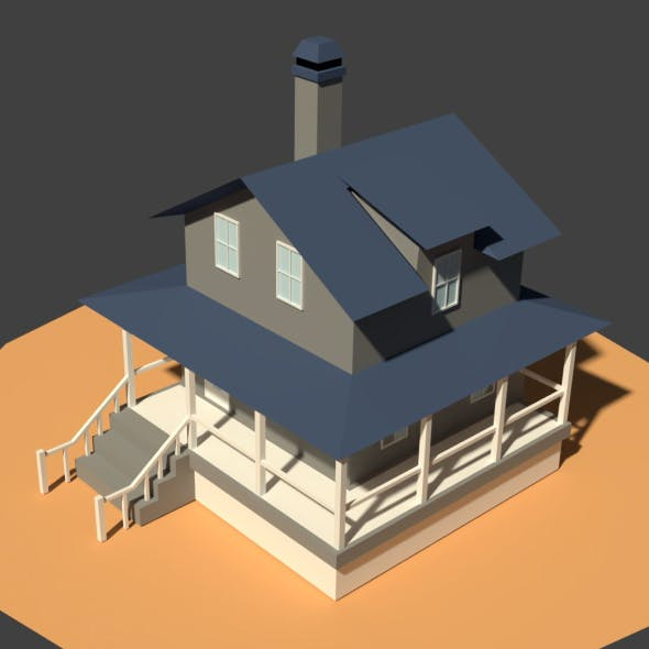 Low Poly Farm House - 3DOcean Item for Sale